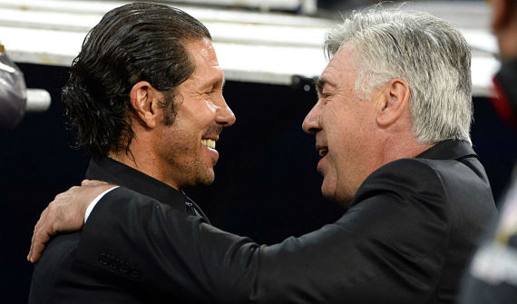 carlo ancelotti diego simeone atletico madrid real madrid aldima20130928 march 0014 real madrid and atletico opt much of the season playing against each other